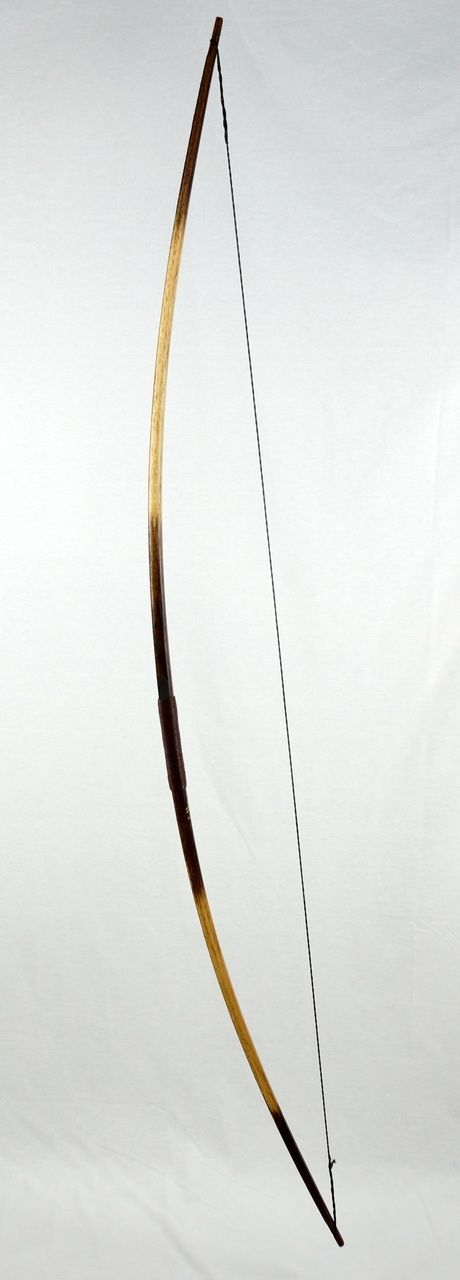Medieval Battle Bow - Solid Hickory - Linen Backed - Cord