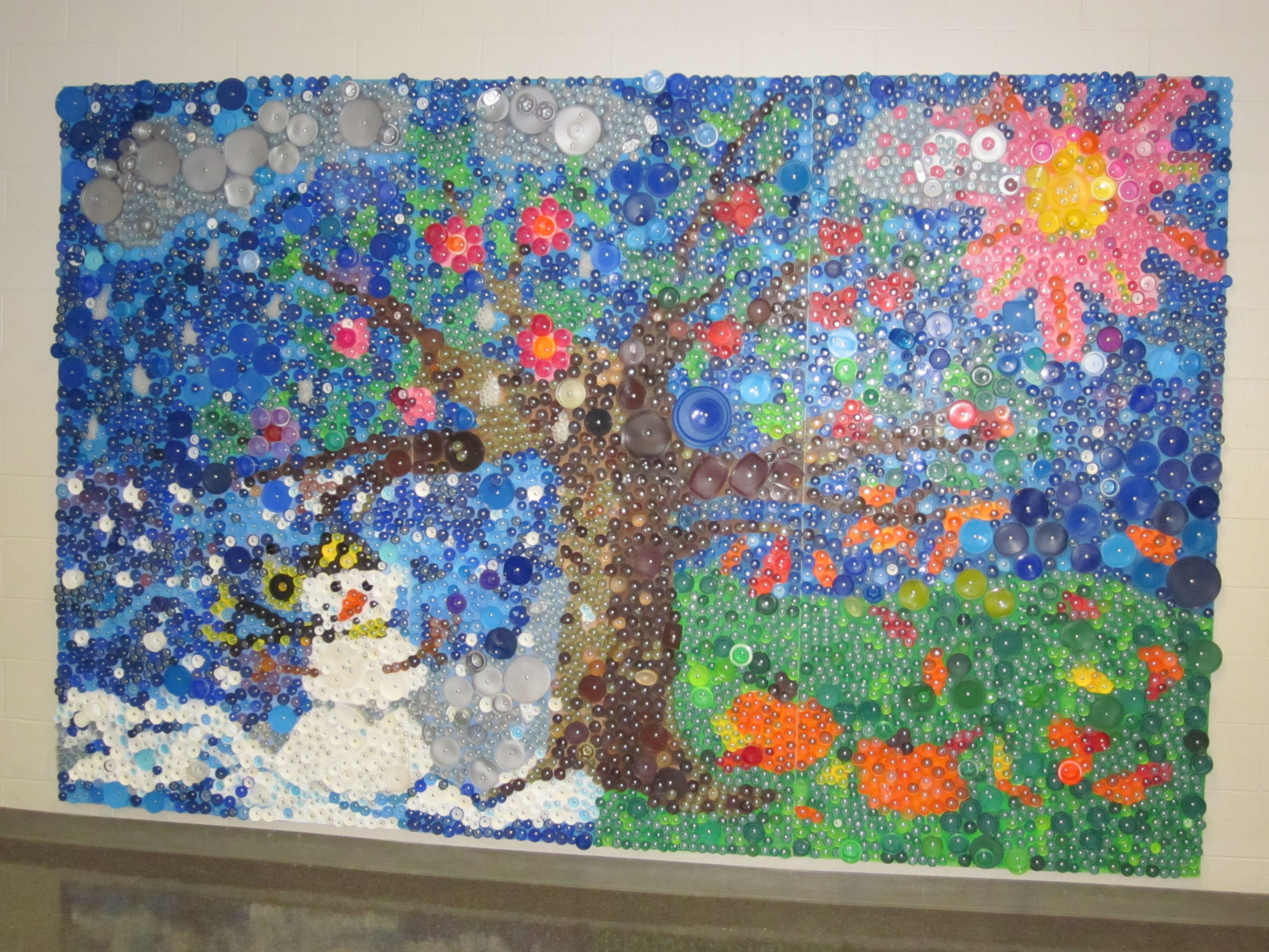 Bottle Cap Wall Art art made from plastic bottles - google search | litter awareness