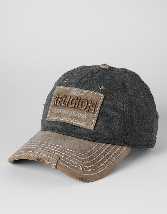 1e47d492 Top off your look with a signature True Religion cap. A classic baseball  construction is highlighted by a leather applique label and some of the.