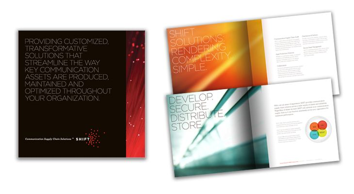 Printed capabilities brochure and package sleeve with case studies ...