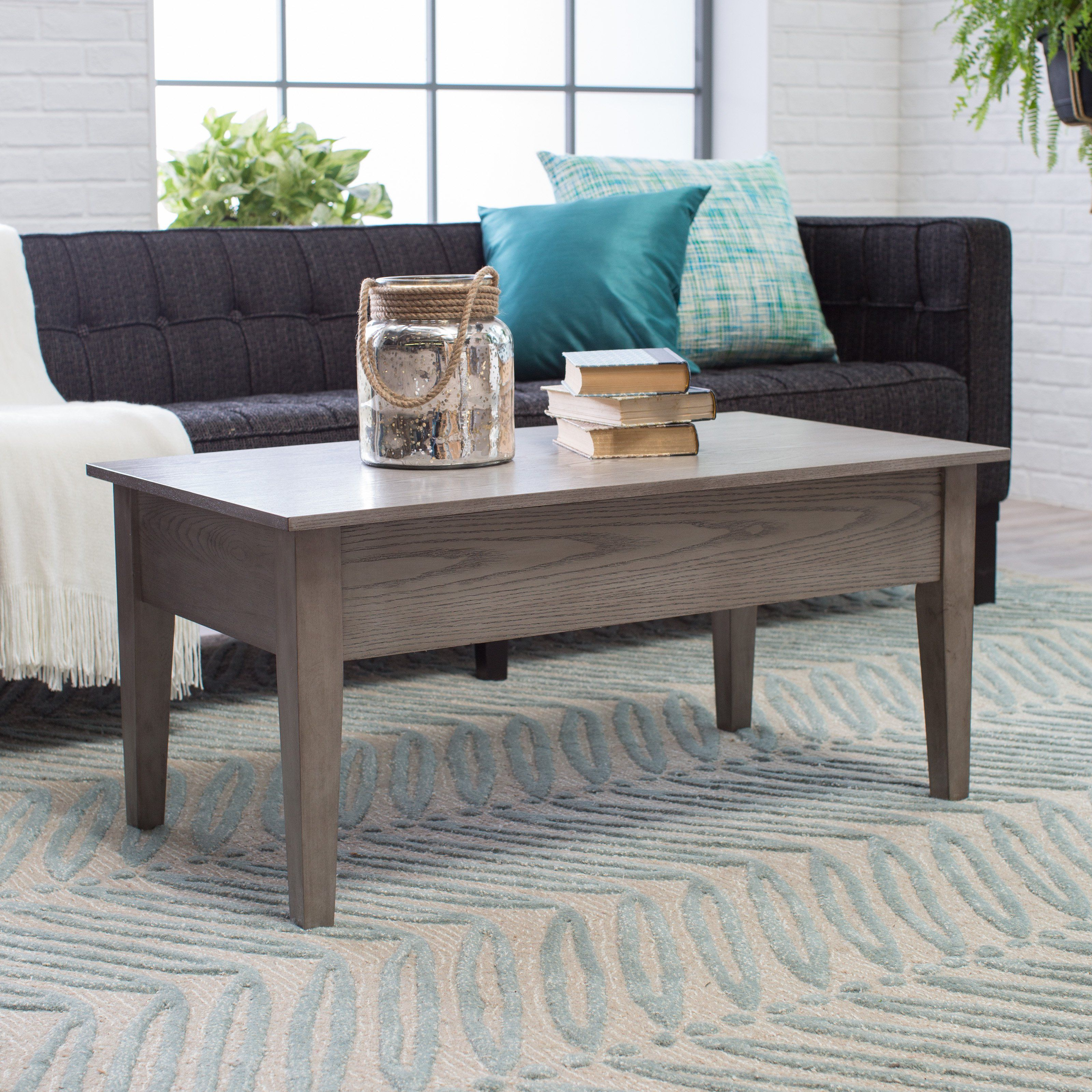 Turner Lift Top Coffee Table Gray Www Hayneedle Com Grey Wood Coffee Table Coffee Table Round Coffee Table Living Room [ 3200 x 3200 Pixel ]