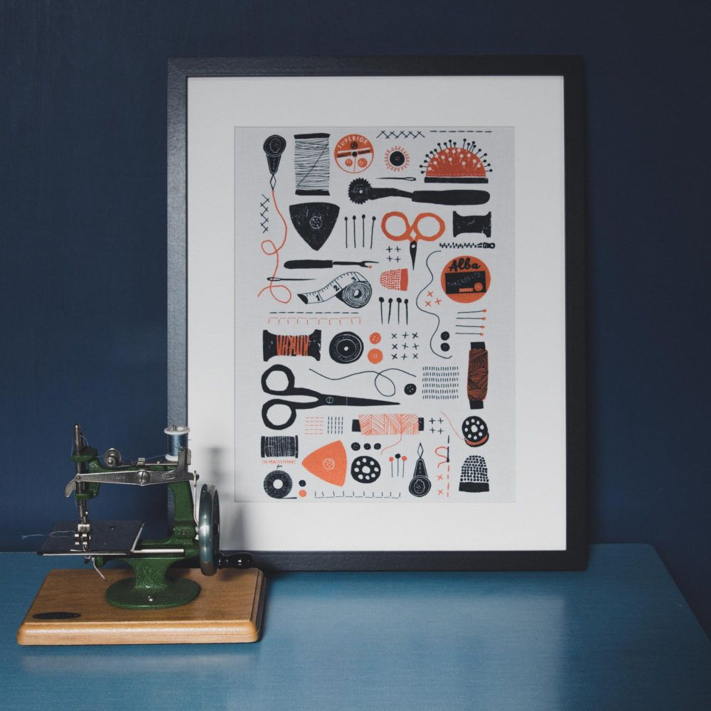 Superior Designed By Louise Lockhart, Aka The Printed Peanut, And Inspired By  Vintage Sewing Illustrations, This Striking Fabric Panel Features All You  Favourite ...