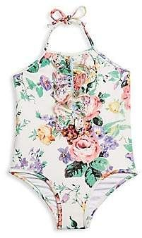29e2dafb812dd Zimmermann Kids Kids Little Girl's& Girl's Allia Floral Halterneck  One-Piece Swimsuit