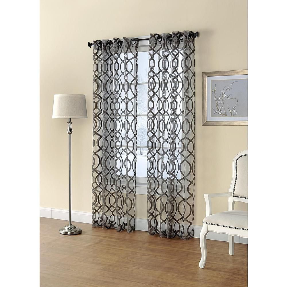 Printed Sheer Window Panel Dress Up Your Home With Sears And