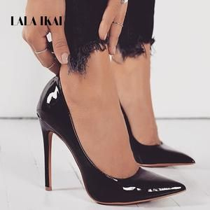 e916beabfb173e LALA IKAI Basic Woman Pumps High Heels Shallow Office Lady Fashion Concise Thin  Heels Sexy Women Shoes 100C2086 -35