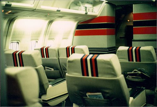 TWA 767   Photo search, Aviation, Cathay pacific  Twa 747 Cabin