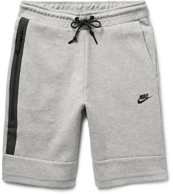 e19f08b24b5 ... these Nike shorts are ideal for outdoor workouts. They are constructed  from the brand's soft cotton-blend Tech Fleece, and are specially  engineered to ...