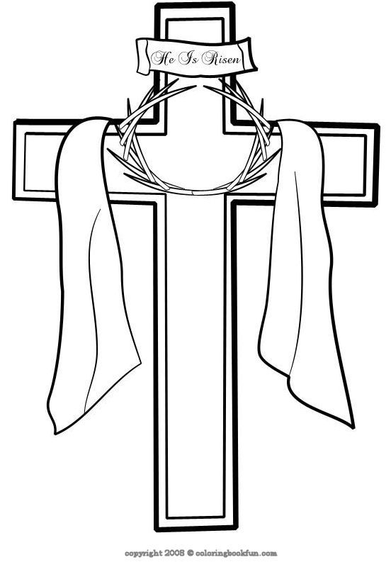 Cross Coloring Sheet