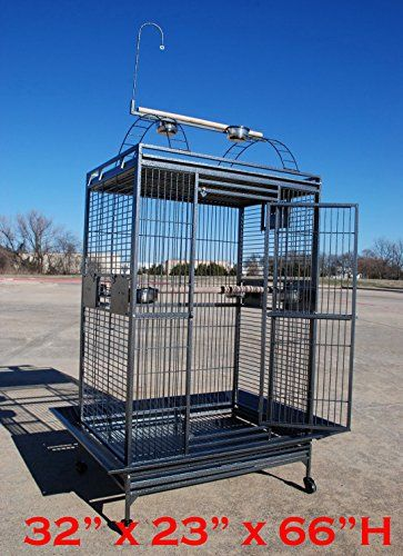 4 Size Castle Playtop Parrot Cage For Large Macaws Cockatoos African Grey Amazon 32 X 23 X 66h You Can Get Mo Large Parrot Cage Parrot Cage Large Bird Cages