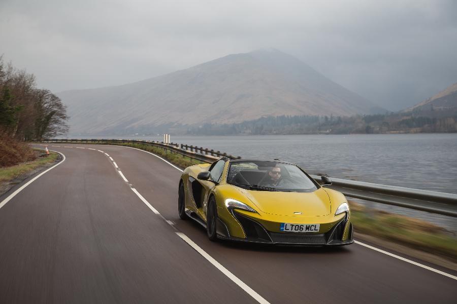 2016 McLaren 675LT Spider Media Launch Scotland