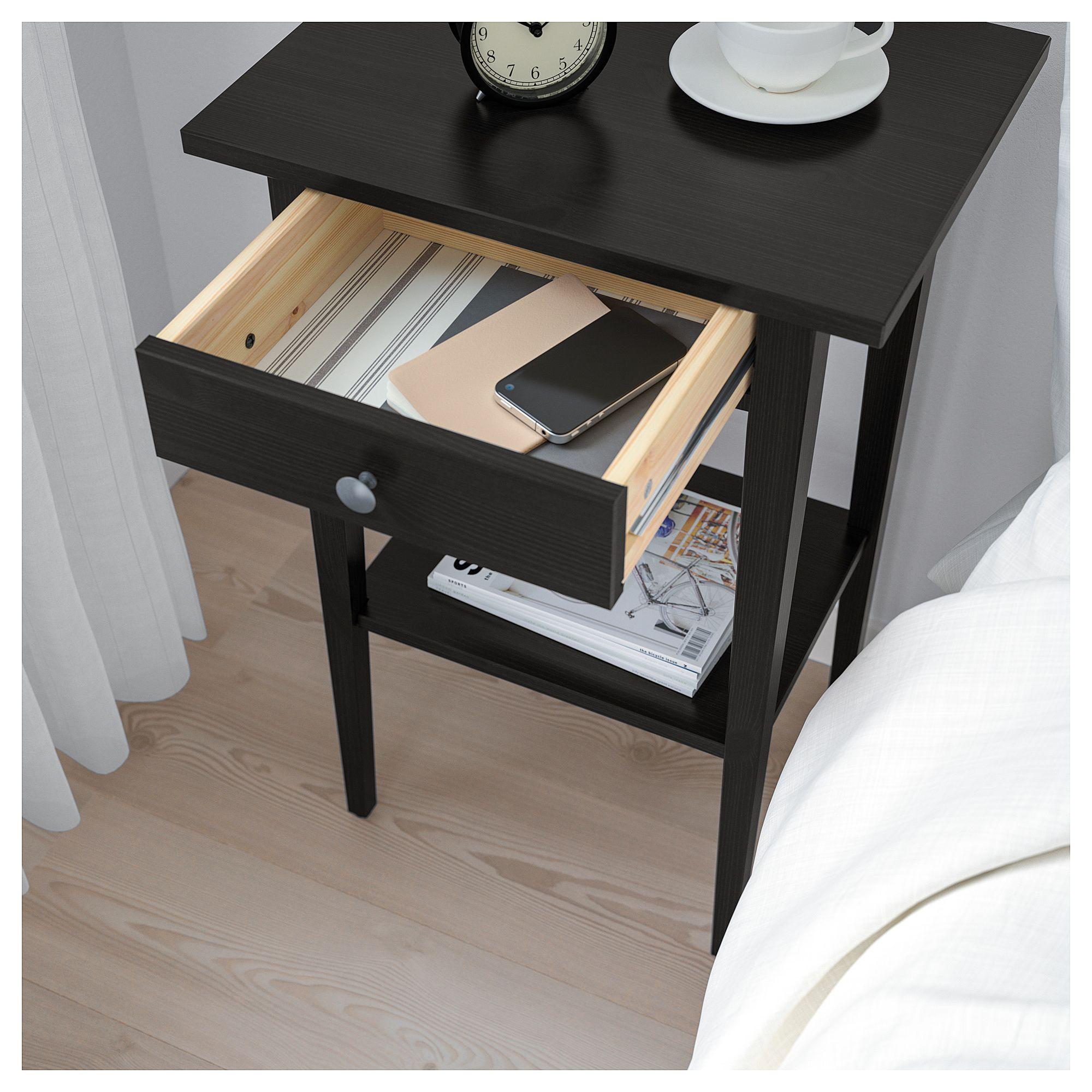 Ikea Hemnes Nightstand Black Brown In 2019 Products