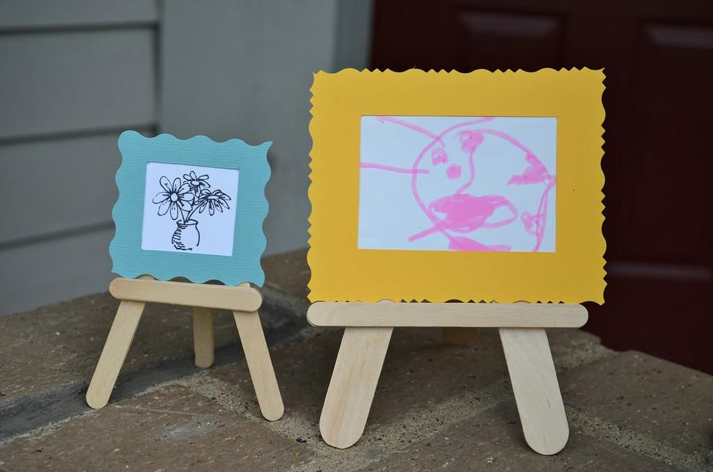 3D Popsicle Stick Crafts II Easels And Mini Museum Kit DIY