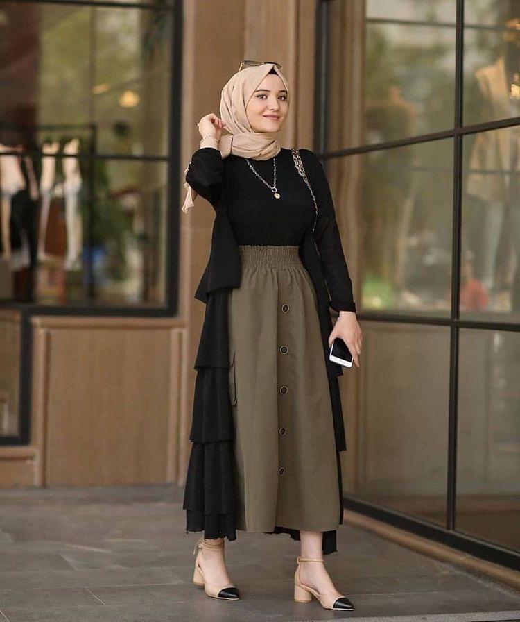 57 Hijab Idea Fashion Hijab Di 2020 Gaya Berpakaian Pakaian Wanita Model Pakaian Hijab