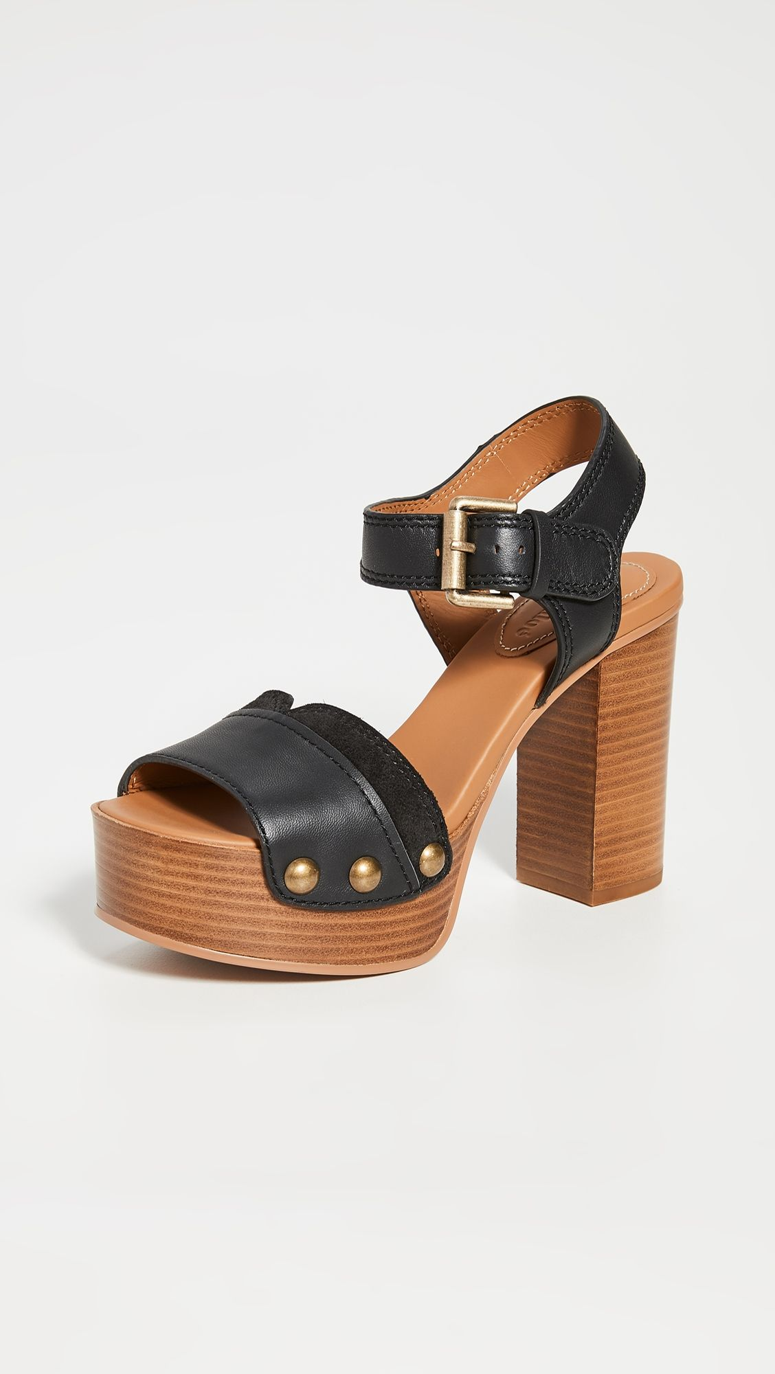 See by Chloe Saya Tall Clog Sandals #seebychloe