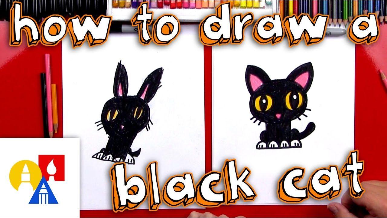 How to draw a cartoon black cat drawings cartoon lion