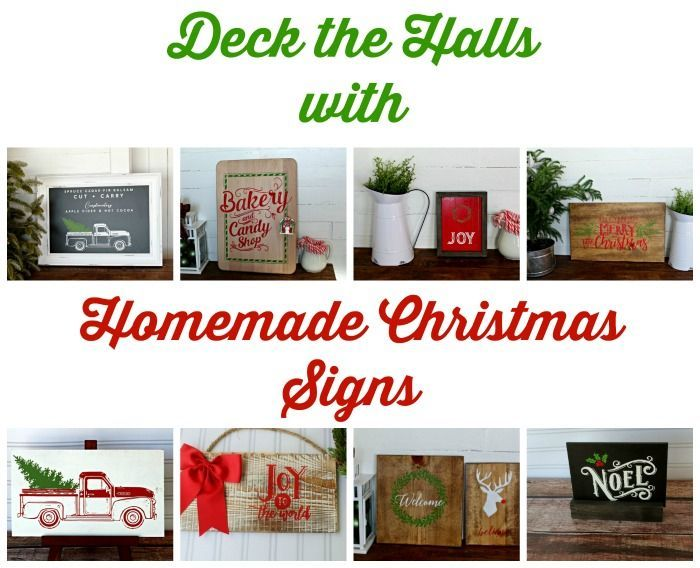 homemade christmas signs