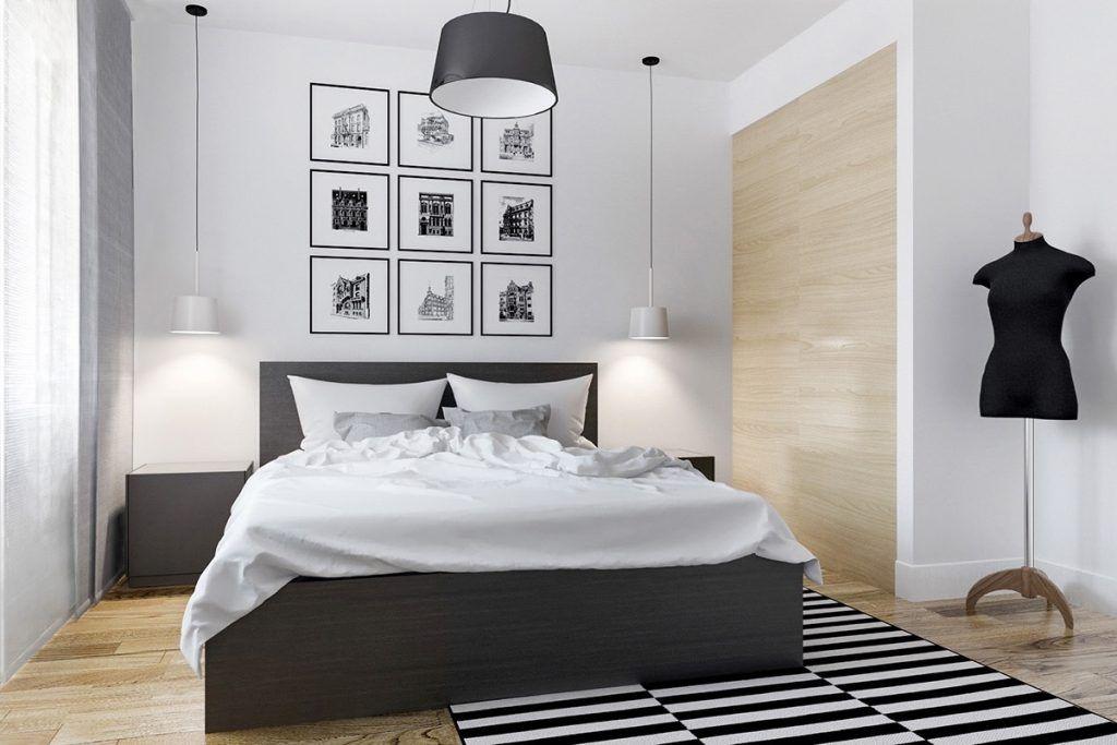 Schlafzimmer Modern Schwarz Weiß