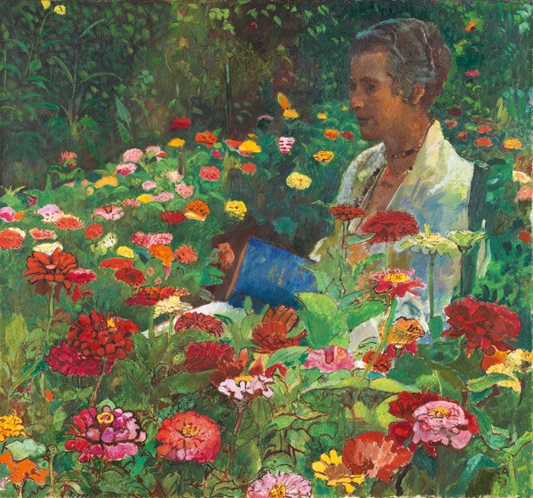 Frau Im Garten Woman In Garden Painted In 1911 By Cuno Amiet 1868 1961 Description From Pinterest C Pintura De Jardin Produccion Artistica Flores Pintadas