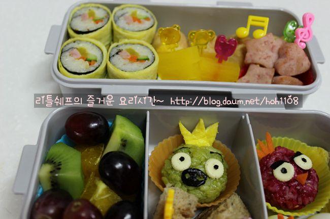 Angry Bird Characters Picnic Snacks (현장학습도시락) 주먹밥, 앵그리버드빨강새, 돼지주먹밥 - Daum 미즈쿡