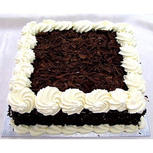 Black Forest Cake Square Shape Backen