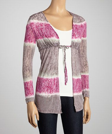Take a look at this Pink Tie-Dye Burnout Cardigan by Hodges Collection on #zulily today! $24 !!