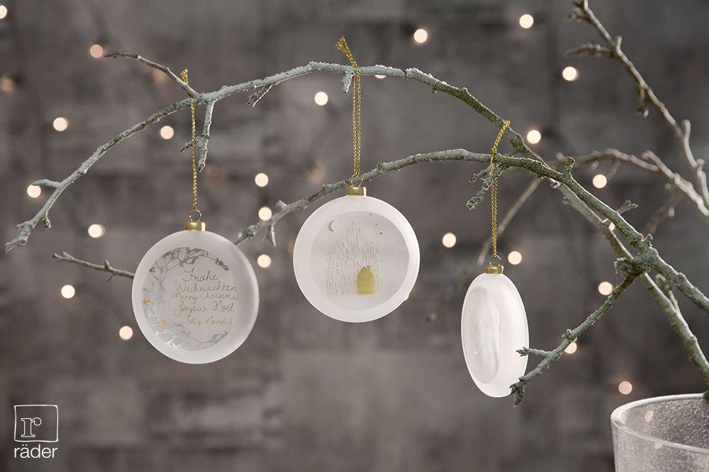 Räder Weihnachtskugeln.Frostige Medaillons Von Räder Das Sind Flache Christbaumkugeln Aus