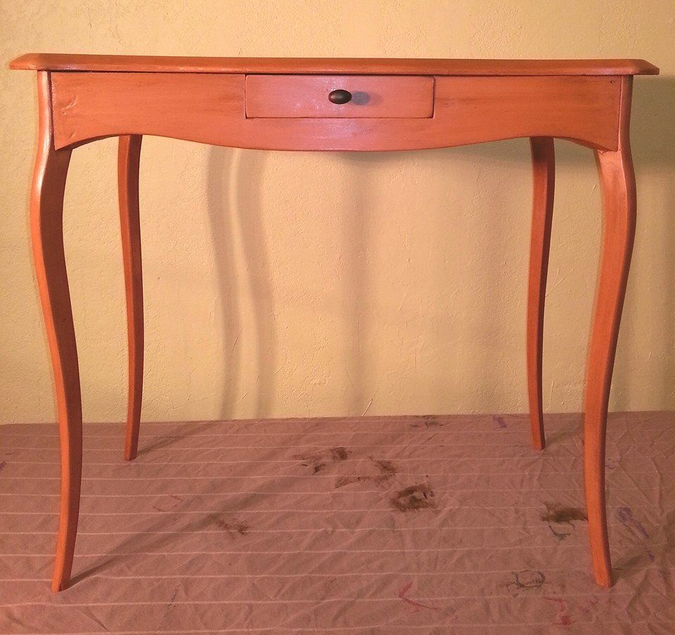 for denise  annie sloan chalk paint in barcelona orange is an  - for denise  annie sloan chalk paint in barcelona orange is anunconventional choice for