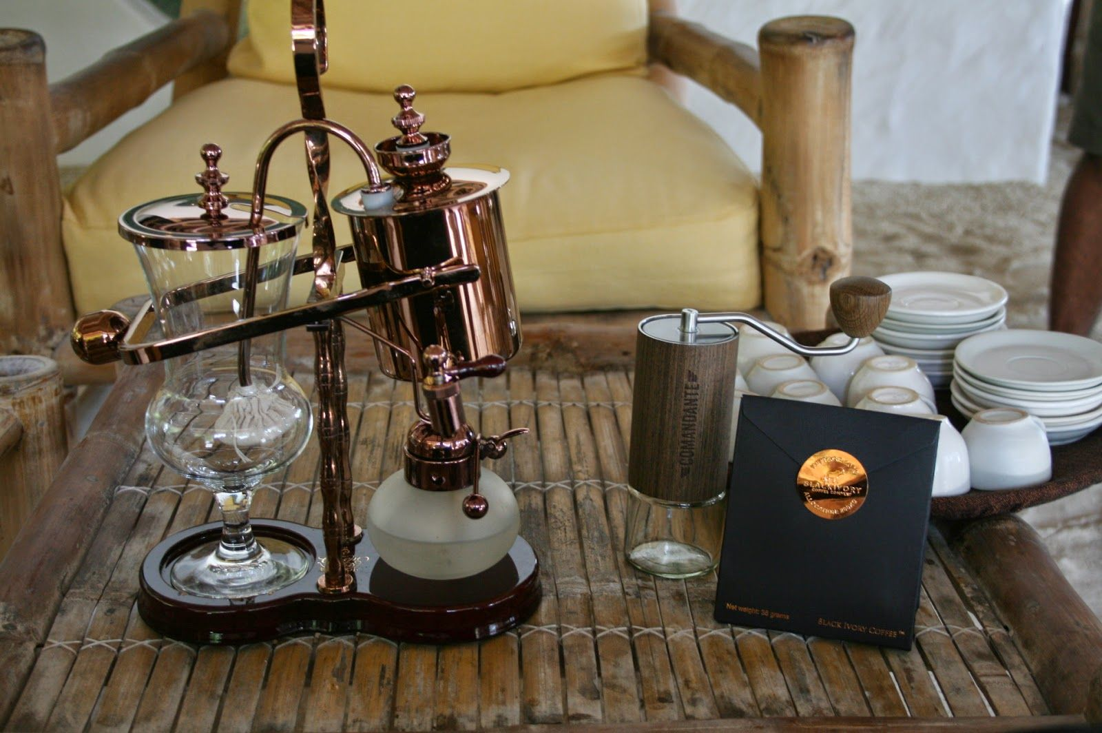Black ivory coffee coffee coffee maker ivory