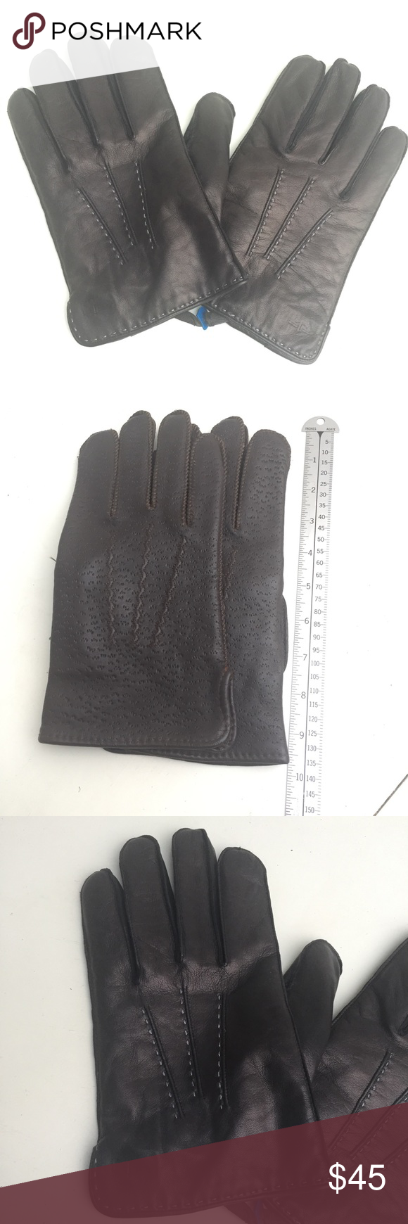 DOCKERS black genuine leather gloves new in 2020 Leather
