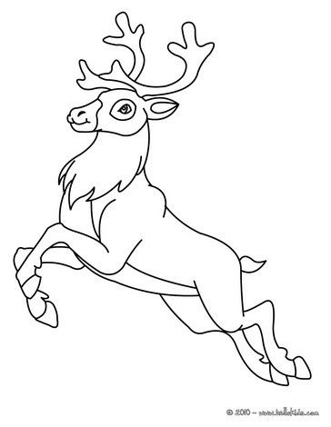 Reindeer Coloring Page More Forest Animals Coloring Sheets On Hellokids Com Reindeer Drawing Animal Coloring Pages Christmas Coloring Pages