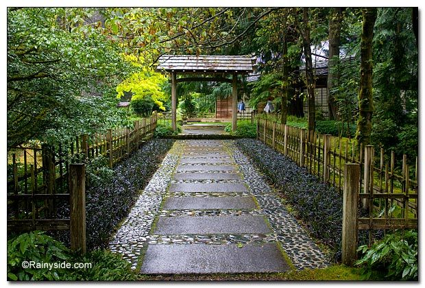 Entrance to the Japanese Garden and Teahouse, Bloedel Reserve, Bainbridge Island