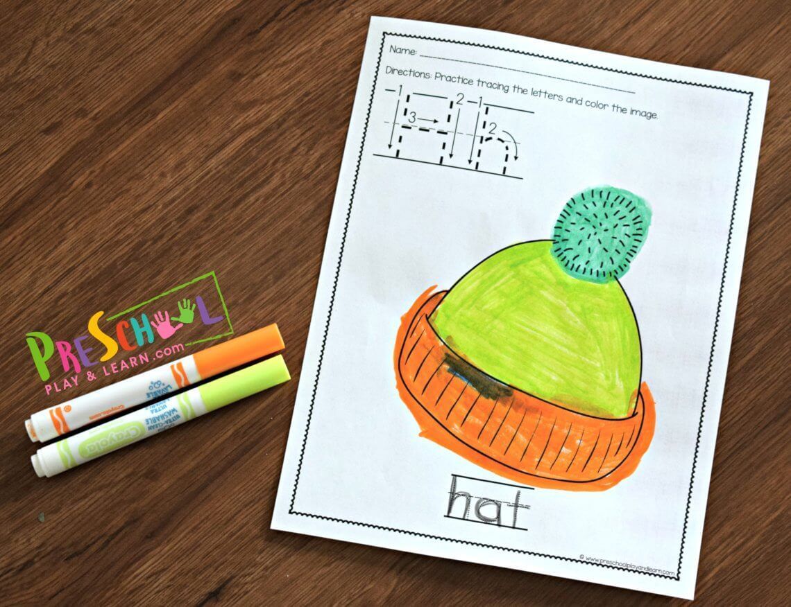 Preschool Alphabet Worksheets With Images