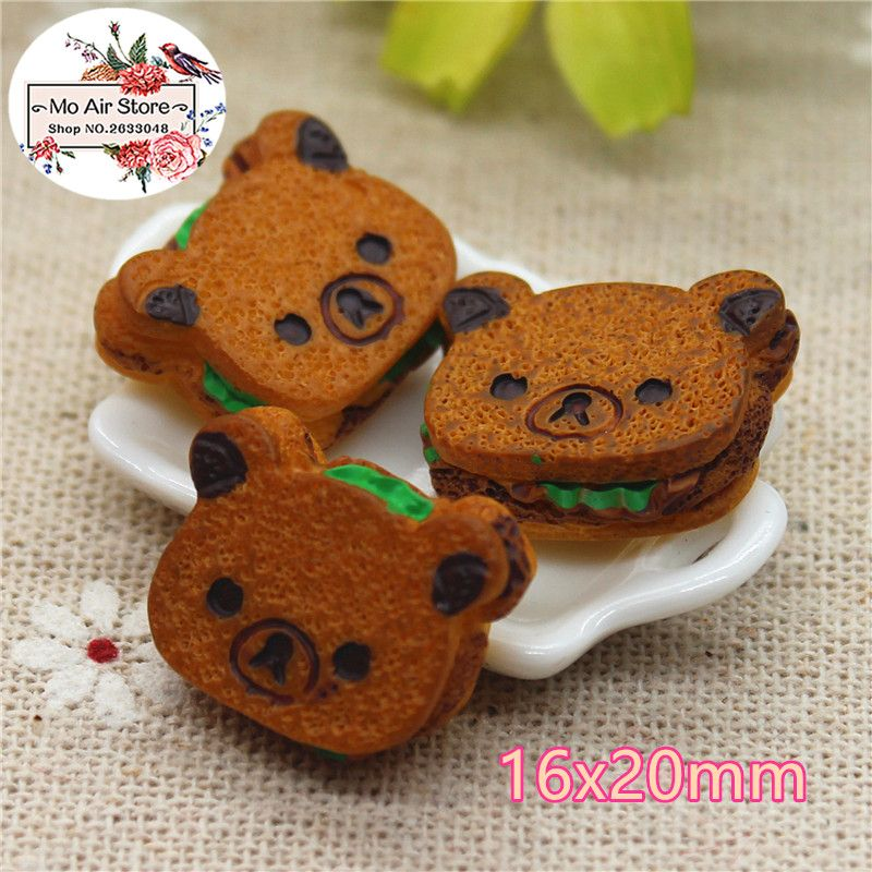 10pcs Flat Back Resin Cabochon Kawaii Miniature Food DIY Flatback Embellishment