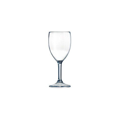 """Cardinal Arcoroc Outdoor Perfect 10 Oz. Wine Glass - Case = 36 by Cardinal International. $101.10. Cardinal Arcoroc Outdoor Perfect 10 Oz. Wine GlassThe Outdoor Perfect collection is virtually unbreakable and ideal for picnics, cookouts, and poolside.Material: S.A.N. Plastic BPA free Capacity: 10 oz Height: 7-3/8"""" Max Diameter: 3"""" Resists breakage Vented to drain water during washing Model #: E6131 347292"""