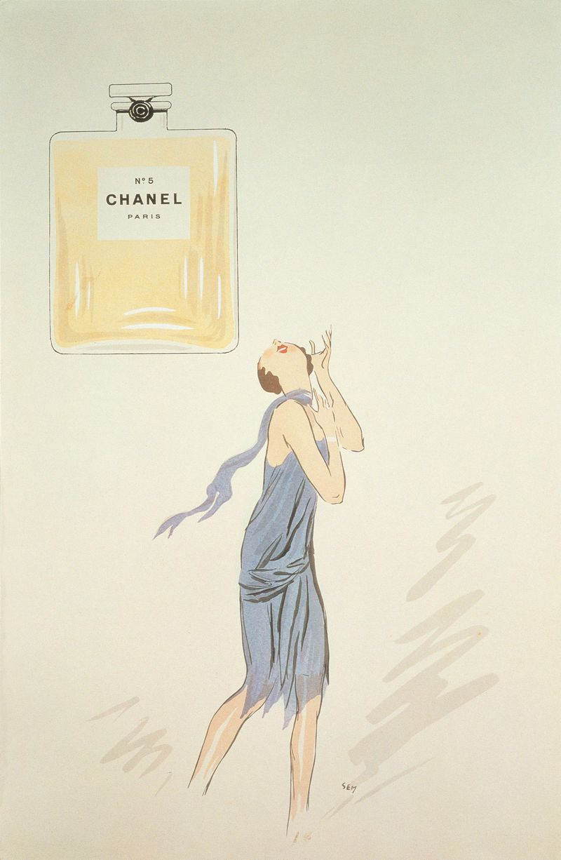 1921 Advertising, Tribute to Chanel N°5 by the Cartoonist ...