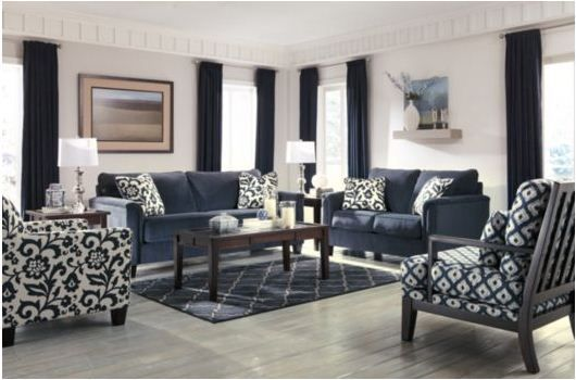 Beautifully Classic Blue White Contemporary Ashley Furniture Living Room Contemporary Blue Sofas Living Room Remodel