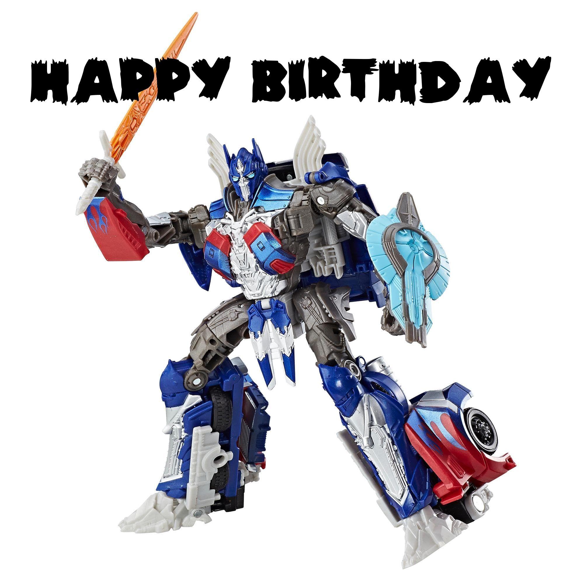 Transformers Birthday Cards Optimus Prime Toy Optimus Prime Last Knights