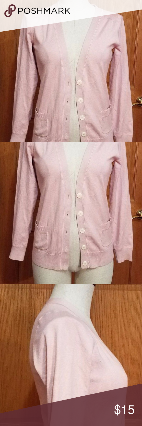 Boden Pink Button Down Cardigan Sweater size 4 | Boden, Pale pink ...