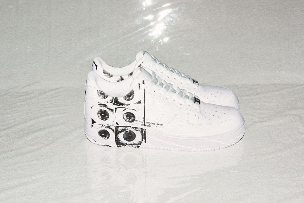 size 40 7a3d7 03c2f A First Look at the Supreme x COMME des GARÇONS x Nike Air Force 1