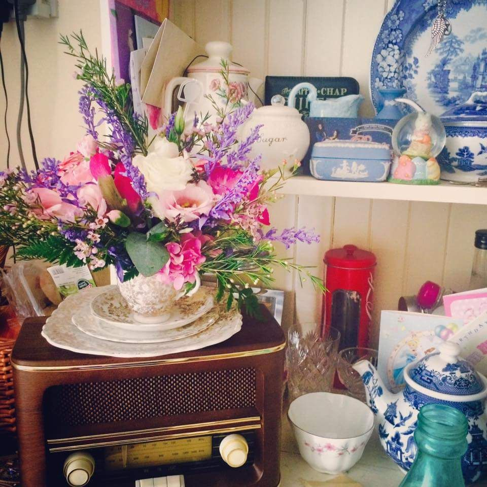 Lovely photo showing our Vintage Teacup Arrangement right