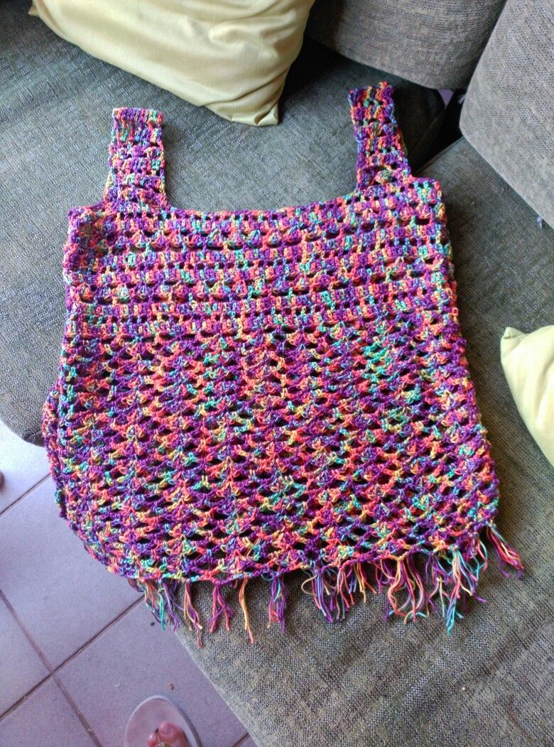 Top playero. Gracias ahuyama crochet