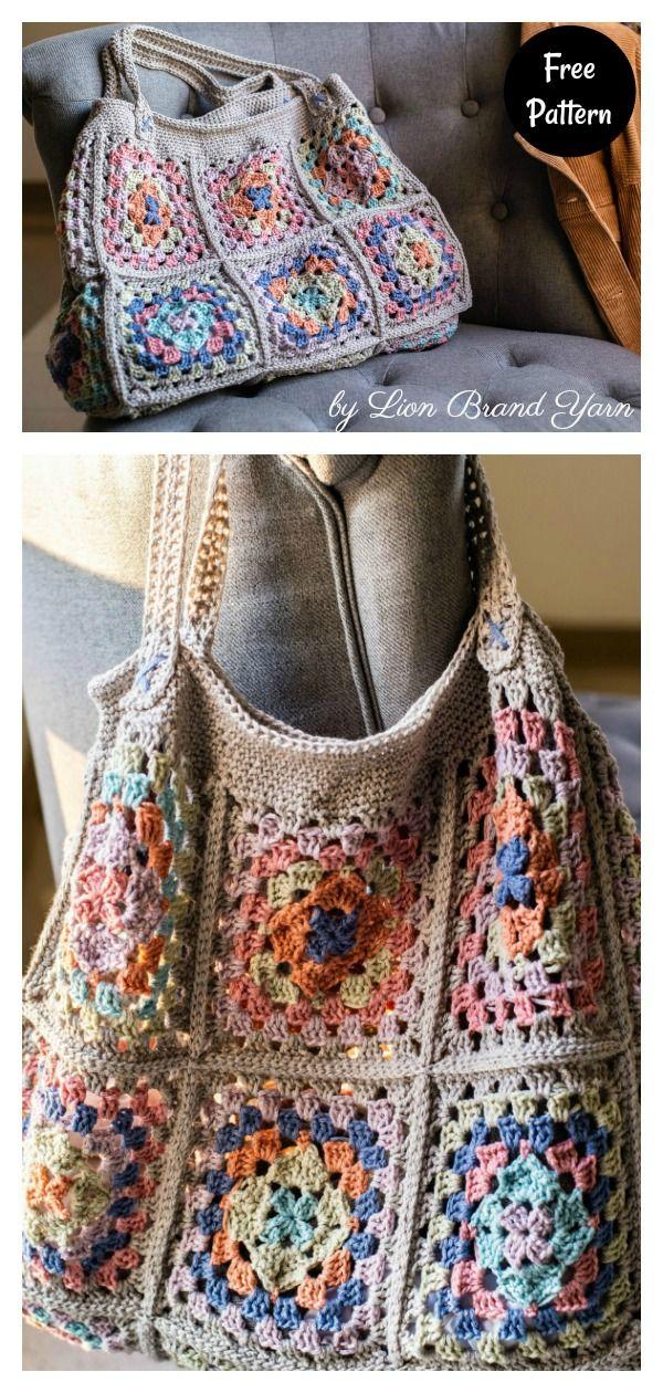 7 Granny Square Bag Patrón de ganchillo gratis – Página 2 de 2  – Bolsa