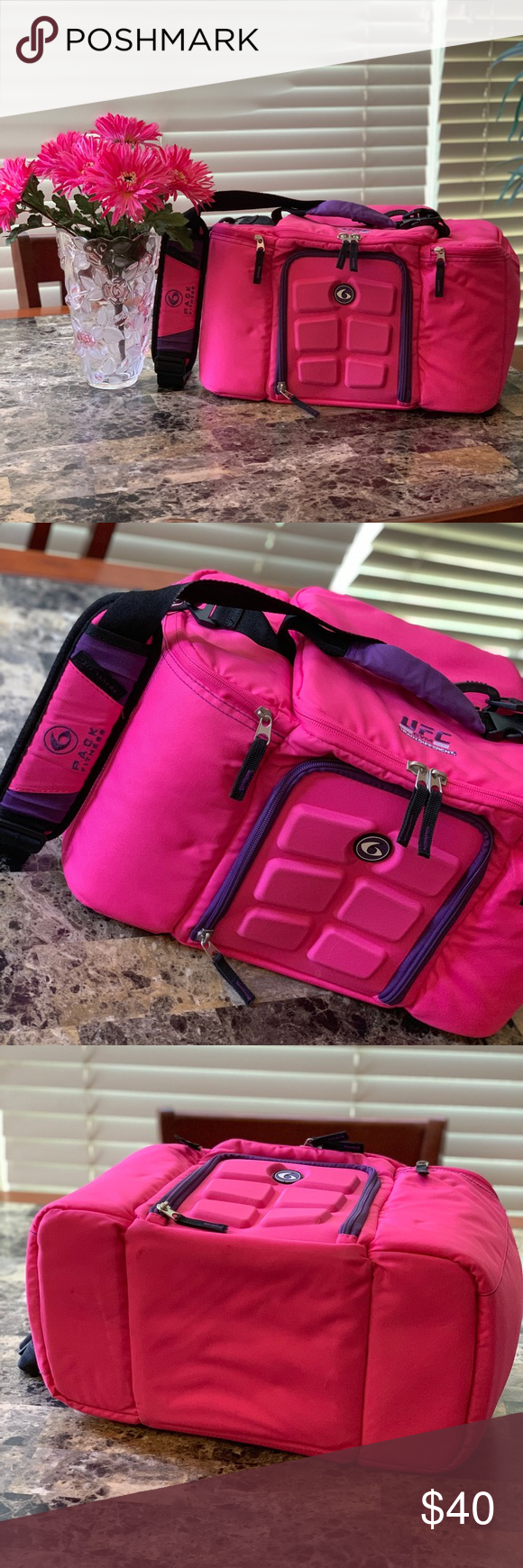 6 Pack Meal Prep Bag Pink UFC Gym Six Pack Fitness Six Pack Fitness - Meal Prep ...,  #Bag #f... -...