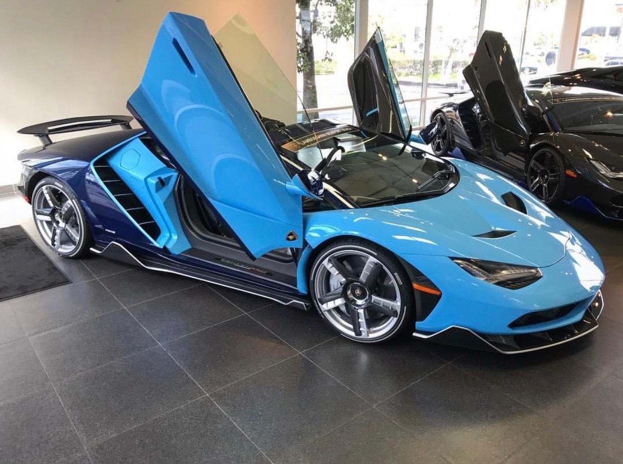 Lamborghini Centenario Roadster Painted In Blu Cepheus Blu Hera W