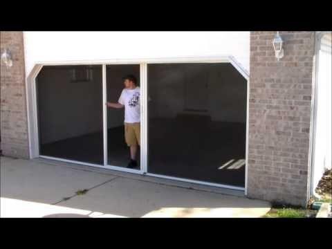 It S A Breeze Garage Door Screen System Garage Doors Garage Screen Door Garage