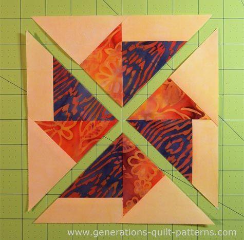 Flying Kite Quilt block: Download the FREE paper piecing pattern ... : free paper piecing quilt patterns download - Adamdwight.com