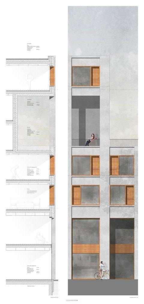 Dresden - Postplatz — Professur für Gebäudelehre und Entwerfen: Wohnbauten — TU Dresden #arquitectonico