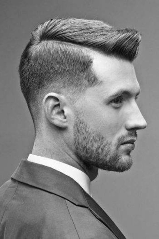 Mens Wear Fashion For Men Hair Proste Włosy Fryzura