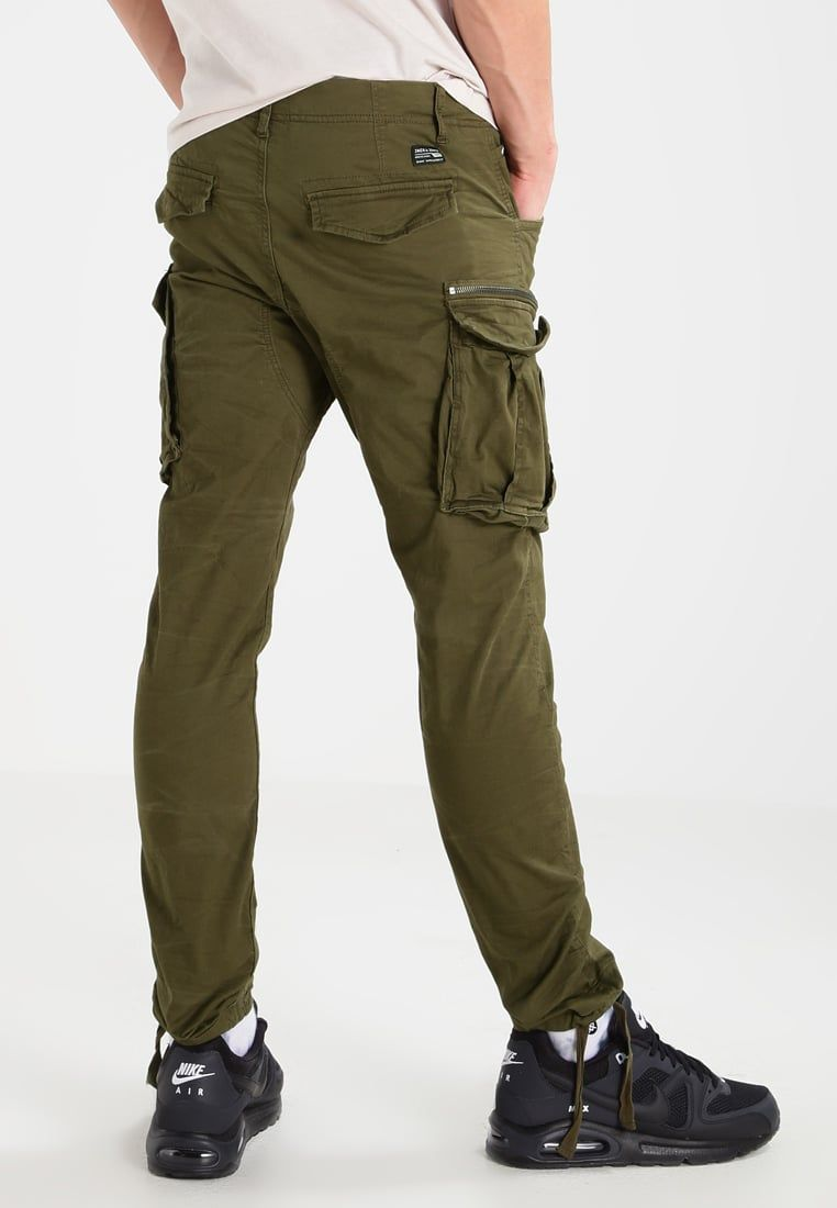 Jack & Jones JJIPAUL JJCHOP PLUS - Pantalón cargo - olive night LvsSH