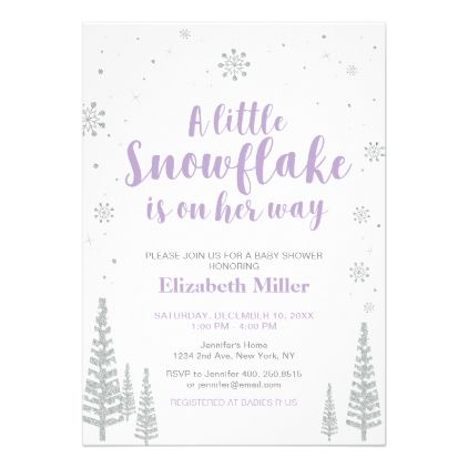 Winter Wonderland Girl Baby Shower Baby Sprinkle Card - shower gifts diy  customize creative 8a6021e5f3